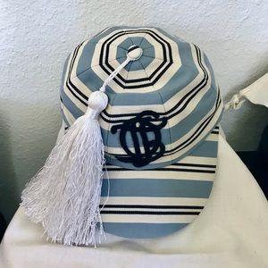 $700 Stephen Jones Millinery Stripes Horseride Hat